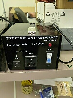 Power Bright VC1000W Voltage Transformer 1000 Watt Step Up/Down converter 110/12