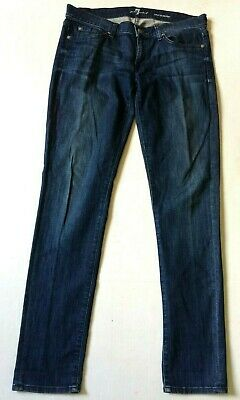 7 For All Mankind Roxanne SKINNY BLUE JEANS WOMENS SIZE (31) 34 X 33