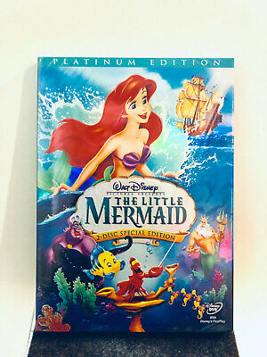 The Little Mermaid DVD 2-Disc Set Platinum Edition w/ Slipcover Disney New