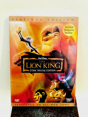The Lion King DVD Platinum Edition 2 Disc Set New & Sealed Disney Classic