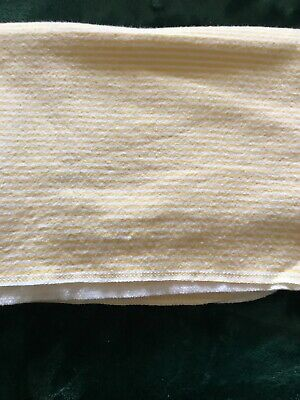 """Carters Baby Security Blanket Lovey Yellow Strips 38"""" X 28"""""""