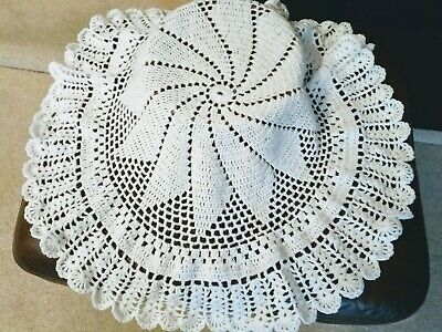 WHITE New Hand Crochet/Knit, Baby Shawl, Baby Shower. Gift