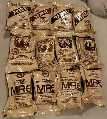 Lot Of 4 Usa Military Individual Mre Meals Ready To Eat *You Pick The Meals*