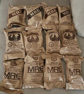 Lotof 4 Usa Military Individual Mre Meals Ready To Eat *You Pick The Meals*