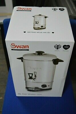 Swan 8 Litre (32 cup) Commercial Stainless Steel Catering Tea Urn / Water Boiler