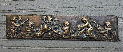 Miniature French Bronze Classical Frieze, Mid 19th Century, Fine Condition!
