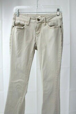 Faded Glory Stretch Cotton Blend Beige Bootcut Pants Size - 4P