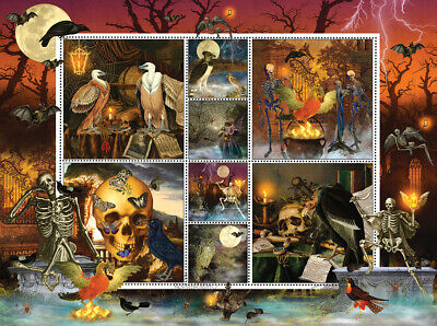 Sunsout Halloween Stamps Skeleton Dance Jigsaw Puzzle