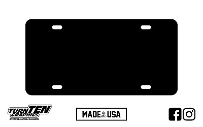 Custom Blank Black Plastic Vanity License Plate Tag For Car Truck SUV