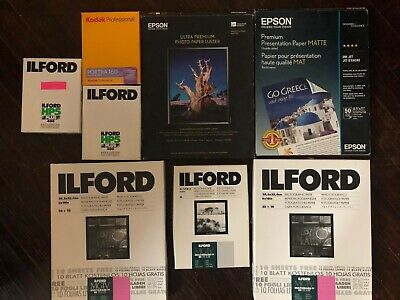 Film Package: Portra Color Film, Ilford B&W Film 4x5, Photo Paper and Other