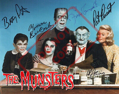 8.5x11 Autographed Signed Reprint RP Photo The Munsters Cast Fred Gwynne