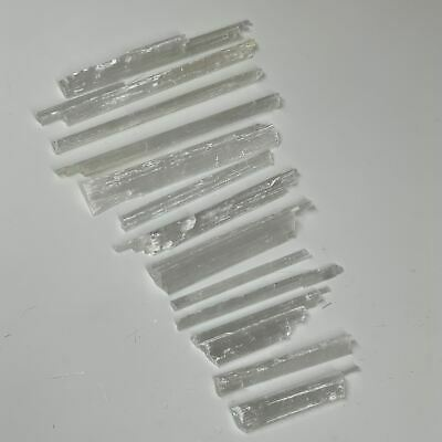"""13pcs, 164.4g, 2.8""""-5.4"""" Natural Rough Solid Selenite Crystal Blade Wand Stick,F"""