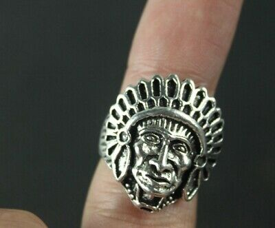 Chinese Exquisite Collection Old Tibet silver handmade head ring