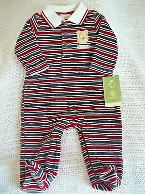 Classic Winnie The Pooh Baby Boy Outfit Footed Coverall 6 Months Disney New