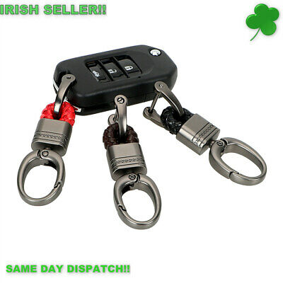 Hand Woven Horseshoe Buckle Keychain Key Ring Gift (3x colours options!!!)