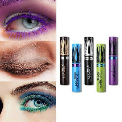 Eye Cosmetic 3D Silk Fiber Colorful Mascara Lash Extension Eyelashes Curling