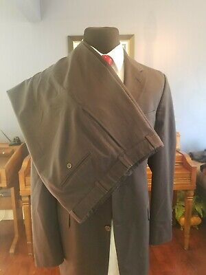 Brooks Brothers 346 Men's Navy Check Wool 2-Piece Suit 43L / 36x30