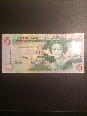 East Caribbean States 5 Dollars Banknote