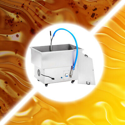 58L Commercial Oil Filtration System Fryer Oil Filter Machine  Stainless Steel