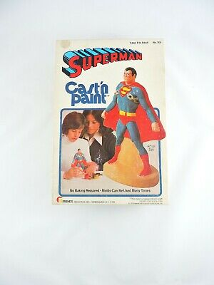 SUPERMAN Cast 'n Paint mold kit 1976 Friends Industries DC National Publications