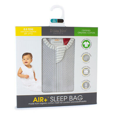 NEW Bubba Blue Air+ Sleep Bag Grey 3-12 Months