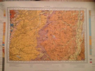 OLLERTON Geological Survey of Great Britain Map solid & drift sheet 113