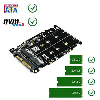M.2 NVME SSD Key-M/B SSD to U.2 SFF-8639 Adapter Riser Card Converter  for PC