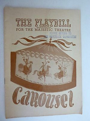Playbill 1947 CAROUSEL with Henry Michel Iva Withers Connie Baxter Eric Mattson