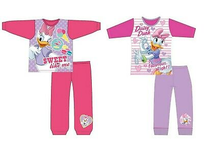 Girls Children Disney Daisy Duck Long Sleeve Pyjamas pjs Age 12Months - 10 Years