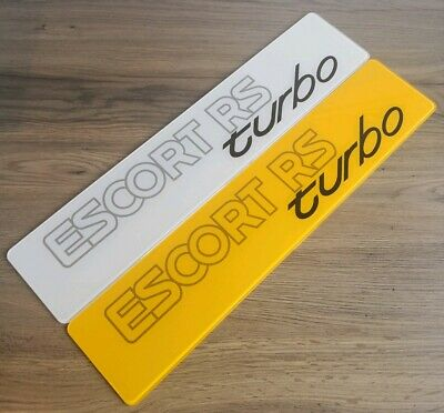Pair Of Ford Escort RS Turbo Show Number Plates.