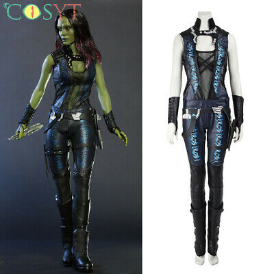 Gamora Cosplay Costume Guardians of the Galaxy Deluxe Halloween Outfit