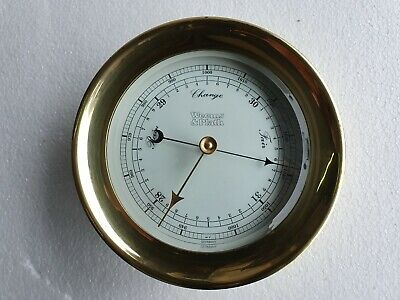 Weems & Plath Vintage Marine Brass Barometer - Made In Germany