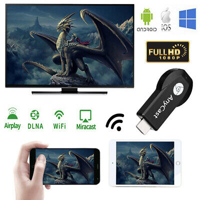 AnyCast Wifi Display Receiver TV Dongle Stick Cromecast 2 Airplay Miracast HDMI