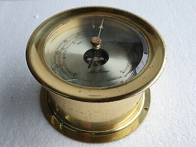 Seth Thomas Vintage Marine Brass Barometer  - Made In Germany