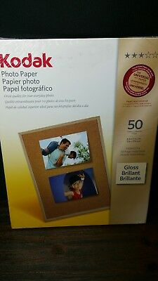NEW Sealed  Kodak Photo Paper 50 Sheets 8.5 X 11 GLOSS Instant Dry
