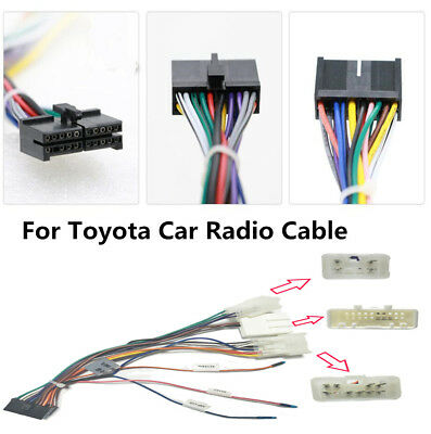 20 PIN WIRING Harness Connector for Toyota Stereo DVD ... Toyota Automotive Wiring Harness Connectors on