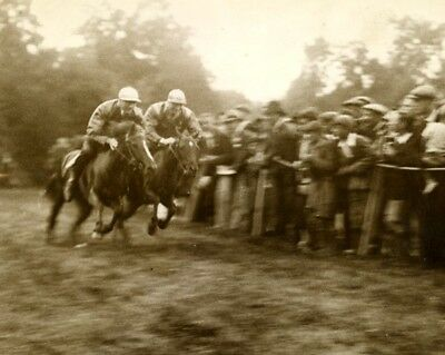Horse Racing Action Gordon Ricard Cup course hippique chevaux old Photo 1920's