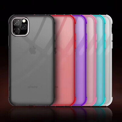 For Apple iPhone 11 2019 Xs Max XR 7 8 Clear Soft Rubber Colorful TPU Case Cover