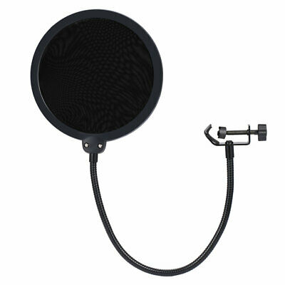 Double Layer Cover Studio Microphone Wind Screen Pop Filter Shield Flexible KZ