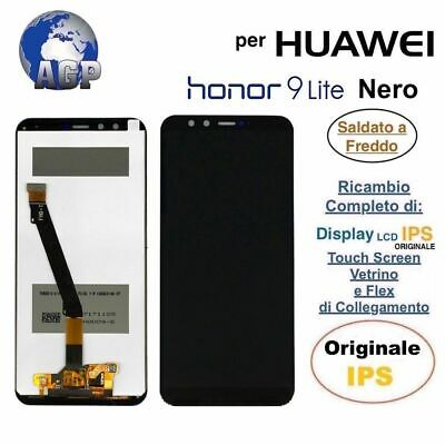 Display LCD Touch Screen Middle Frame HUAWEI Honor 9 Lite LLD-L31 Nero Originale