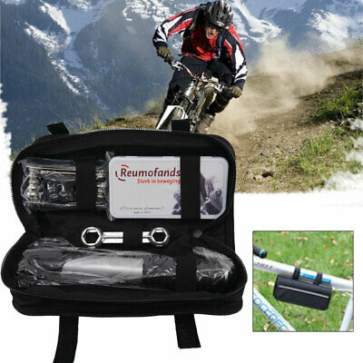 16 in 1 Bike Cycle BicyleI Frame Tool Puncture Repair Kit Case Bag With Pump Set