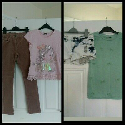 Girl Outfits bundle Next/George tops, Next Trousers and Denim Co shorts 10-11yrs