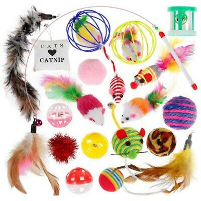 Kitten Toys Variety Pack, Cute Kitty Toys For Cats 20 Pieces - Cat Toys Set V5T3