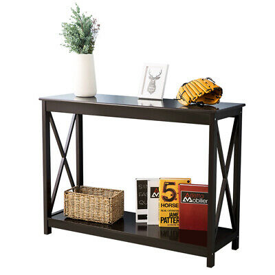 Side Table Wooden Console Control Table End Table Hall Entryway Desk Shelf UK