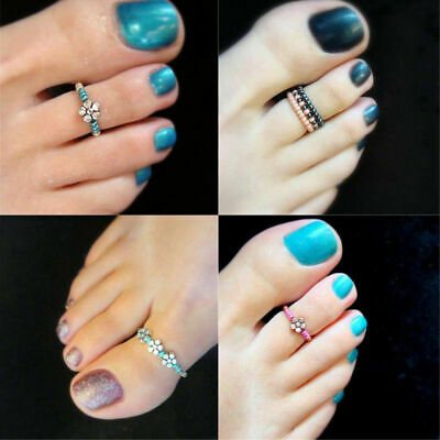 Girl Celebrity Rhinestone Finger Beach Jewelry Barefoot Women Toe Ring Foot