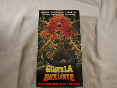 Godzilla Vs. Biollante (VHS, 1992) SEALED Rare Godzilla Movie