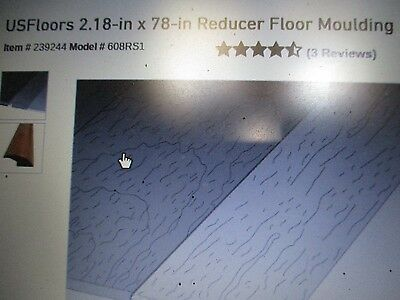 """Lot of 3 US Floors Bamboo Spice 2.25"""" x 78""""  Reducer Floor Moulding"""