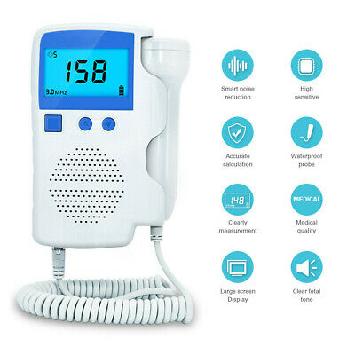 Fetal Doppler Baby Heartbeat Detector Ultrasonic Monitor High Sensitivity Probe