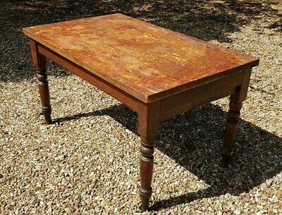 Vintage Pine Table ~ Old & Sturdy with One Drawer