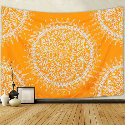 US Stock Hippie Mandala Print Tapestry Room Wall Hanging Psychedlic Tapestries